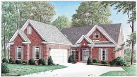House Plan 67030 | Traditional Style House Plan with 2377 Sq Ft, 3 Bed, 3 Bath, 2 Car Garage Elevation