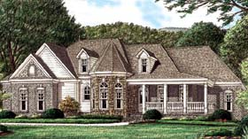 House Plan 67031 | Country Victorian Style Plan with 2416 Sq Ft, 4 Bedrooms, 3 Bathrooms, 2 Car Garage Elevation