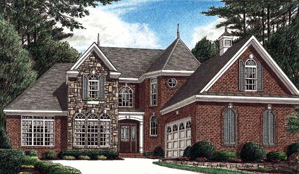European House Plan 67033 Elevation
