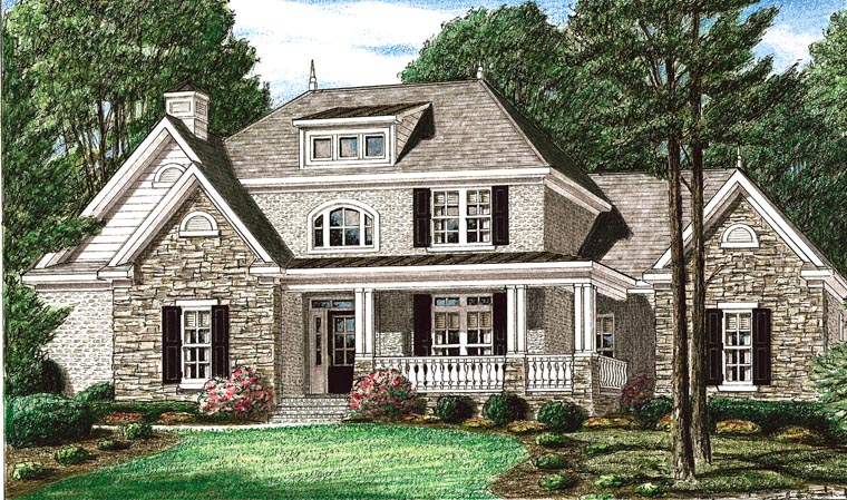 Country House Plan 67035 Elevation