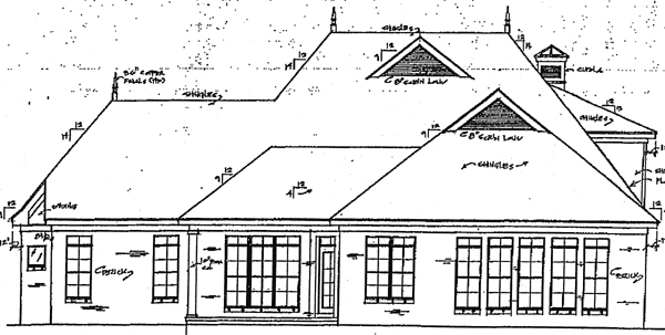 Country House Plan 67035 Rear Elevation