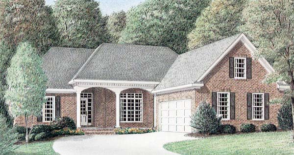 Traditional House Plan 67037 Elevation