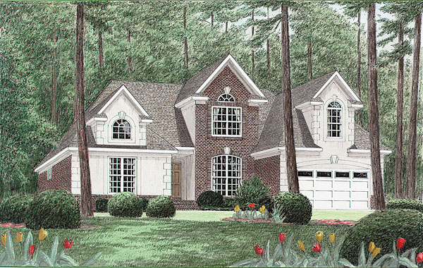 Traditional House Plan 67038 Elevation