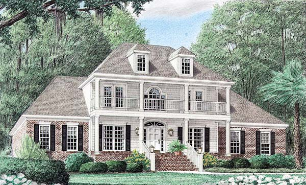 Colonial Country Southern House Plan 67039 Elevation