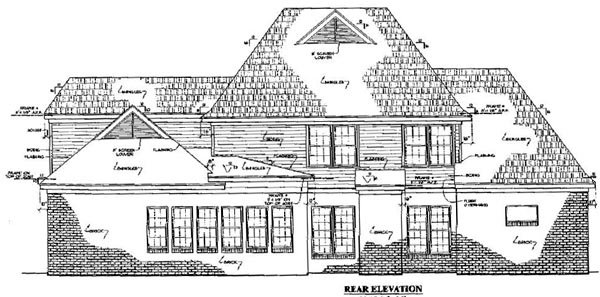 Colonial Country Southern House Plan 67039 Rear Elevation