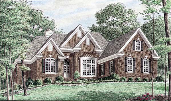 European Traditional House Plan 67041 Elevation