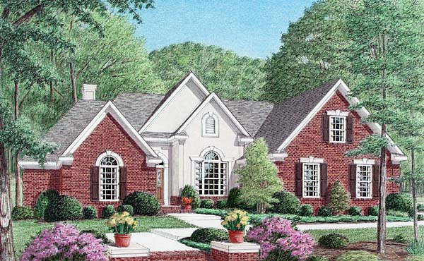 Traditional House Plan 67043 Elevation