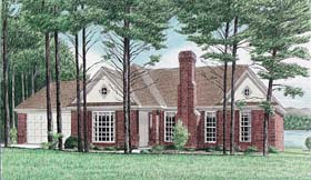 Ranch House Plan 67044 Elevation