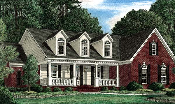 Traditional House Plan 67045 Elevation