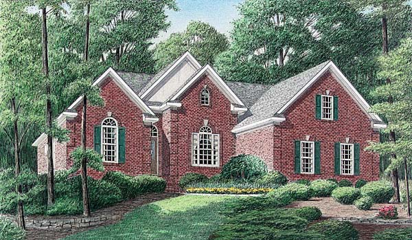 Traditional House Plan 67046 Elevation