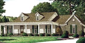 Country House Plan 67049 Elevation