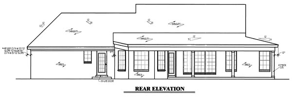 Country House Plan 67049 Rear Elevation