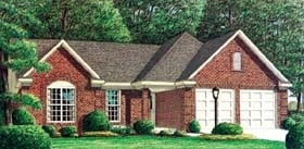 House Plan 67054 Elevation