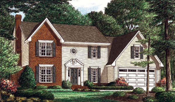 Colonial House Plan 67060 Elevation