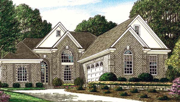 European House Plan 67065 Elevation