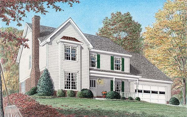 Country House Plan 67069 Elevation