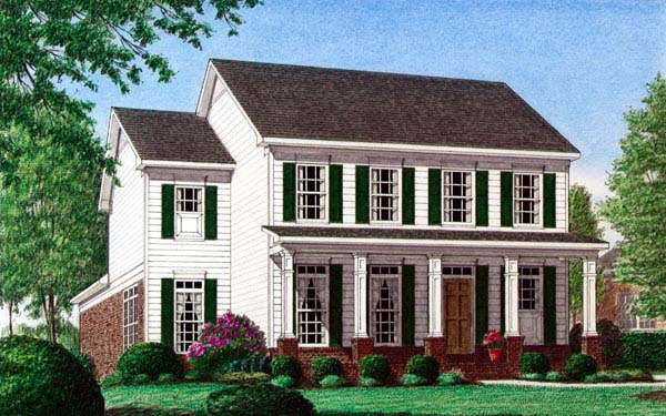 Colonial House Plan 67070 Elevation