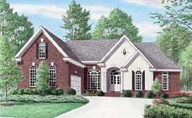 Traditional House Plan 67072 with 3 Beds, 2 Baths, 2 Car Garage Elevation