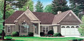 Traditional House Plan 67075 with 3 Beds, 2 Baths, 2 Car Garage Elevation