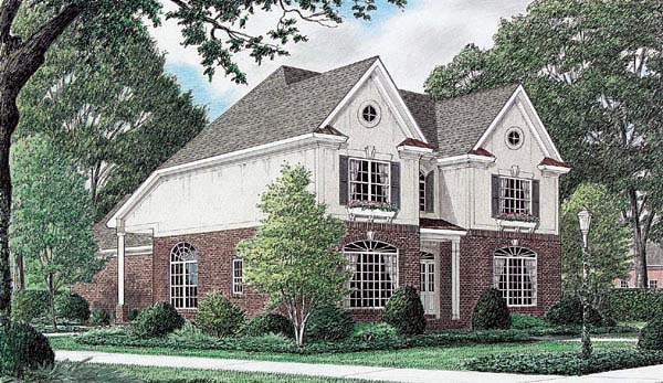 Traditional House Plan 67076 Elevation