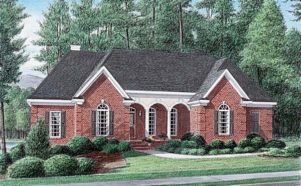 Traditional House Plan 67077 Elevation