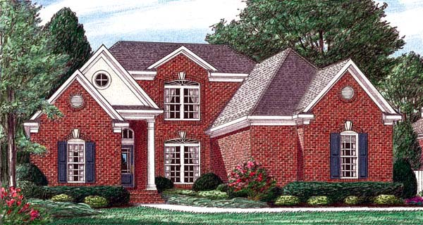 Traditional House Plan 67078 Elevation
