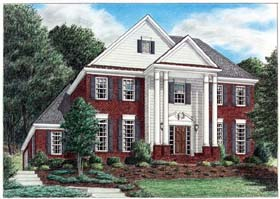 Colonial House Plan 67082 with 3 Beds, 3 Baths, 2 Car Garage Elevation