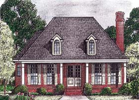 European House Plan 67083 Elevation