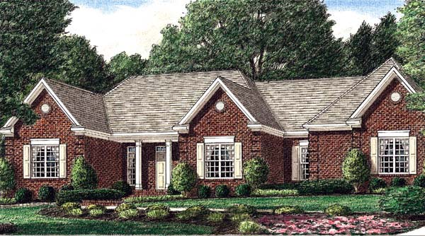Traditional House Plan 67084 with 3 Beds, 3 Baths, 2 Car Garage Elevation