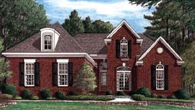 House Plan 67086 | European Style Plan with 2700 Sq Ft, 3 Bedrooms, 3 Bathrooms, 2 Car Garage Elevation