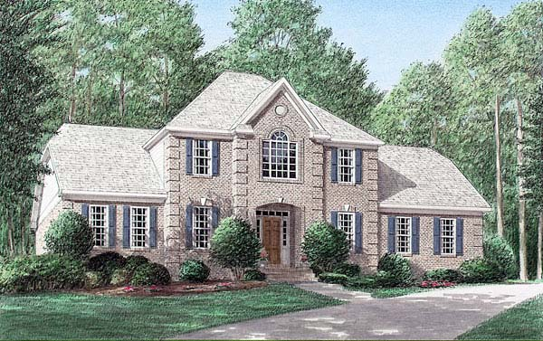 Traditional House Plan 67088 Elevation