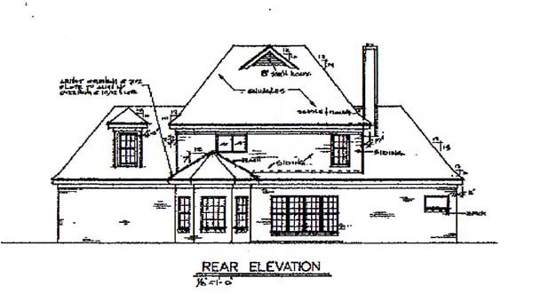 Traditional House Plan 67088 Rear Elevation