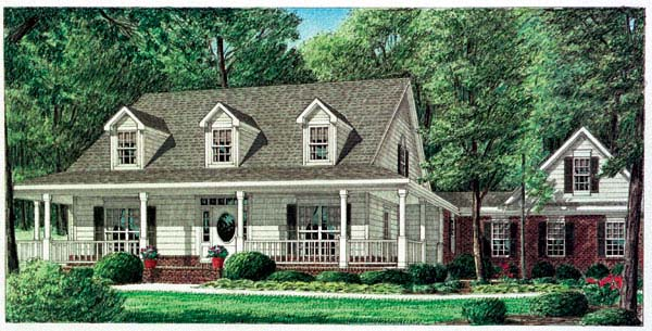 Country House Plan 67089 Elevation