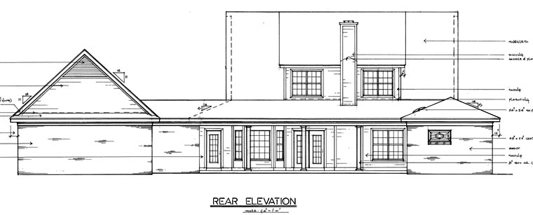 Country House Plan 67089 Rear Elevation