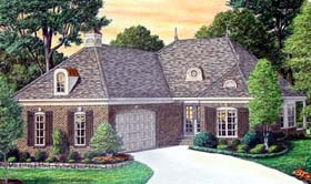 House Plan 67094 | Traditional Style Plan with 2502 Sq Ft, 4 Bedrooms, 3 Bathrooms, 2 Car Garage Elevation