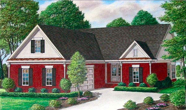 Traditional House Plan 67095 Elevation