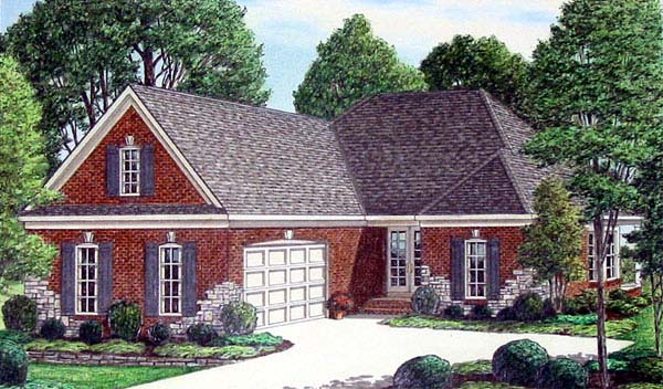 House Plan 67096 | Traditional Style Plan with 2541 Sq Ft, 4 Bedrooms, 3 Bathrooms, 2 Car Garage Elevation