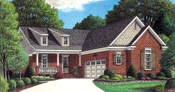 Traditional House Plan 67103 Elevation