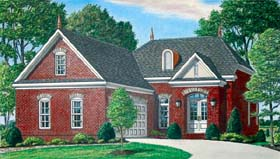 House Plan 67104 | Traditional Style Plan with 2507 Sq Ft, 4 Bedrooms, 3 Bathrooms, 2 Car Garage Elevation