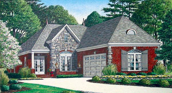 European House Plan 67113 Elevation