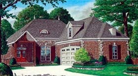 Traditional House Plan 67115 with 4 Beds, 3 Baths, 2 Car Garage Elevation