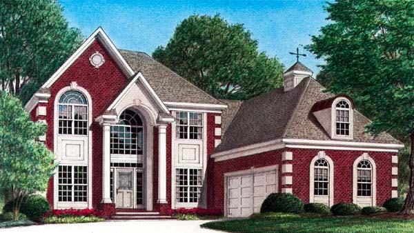 European House Plan 67116 Elevation