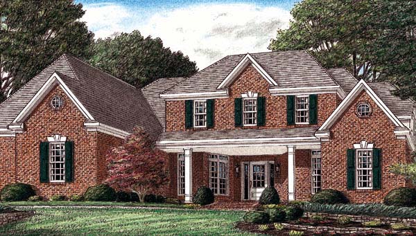 Traditional House Plan 67117 Elevation