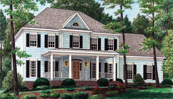 Colonial Elevation of Plan 67123