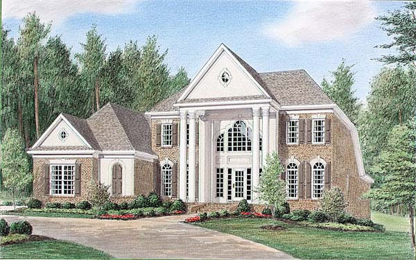 Colonial Elevation of Plan 67124