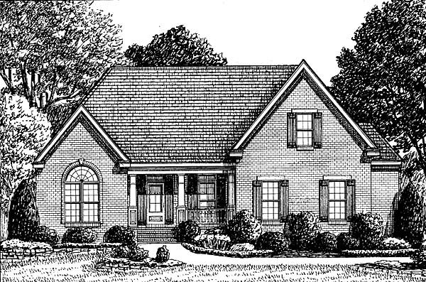 Traditional House Plan 67129 Elevation