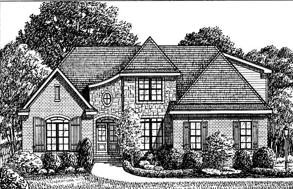 Traditional House Plan 67130 Elevation