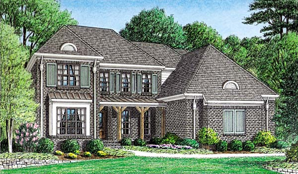 Traditional House Plan 67133 Elevation