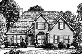 House Plan 67135 | European Style Plan with 2552 Sq Ft, 4 Bedrooms, 3 Bathrooms, 2 Car Garage Elevation