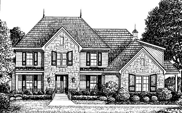 European House Plan 67140 Elevation